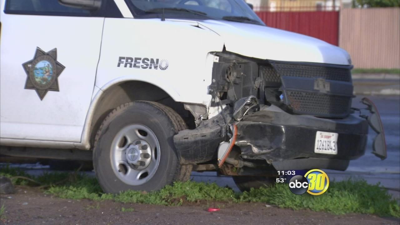 Fresno Police cadet involved in Southwest Fresno crash