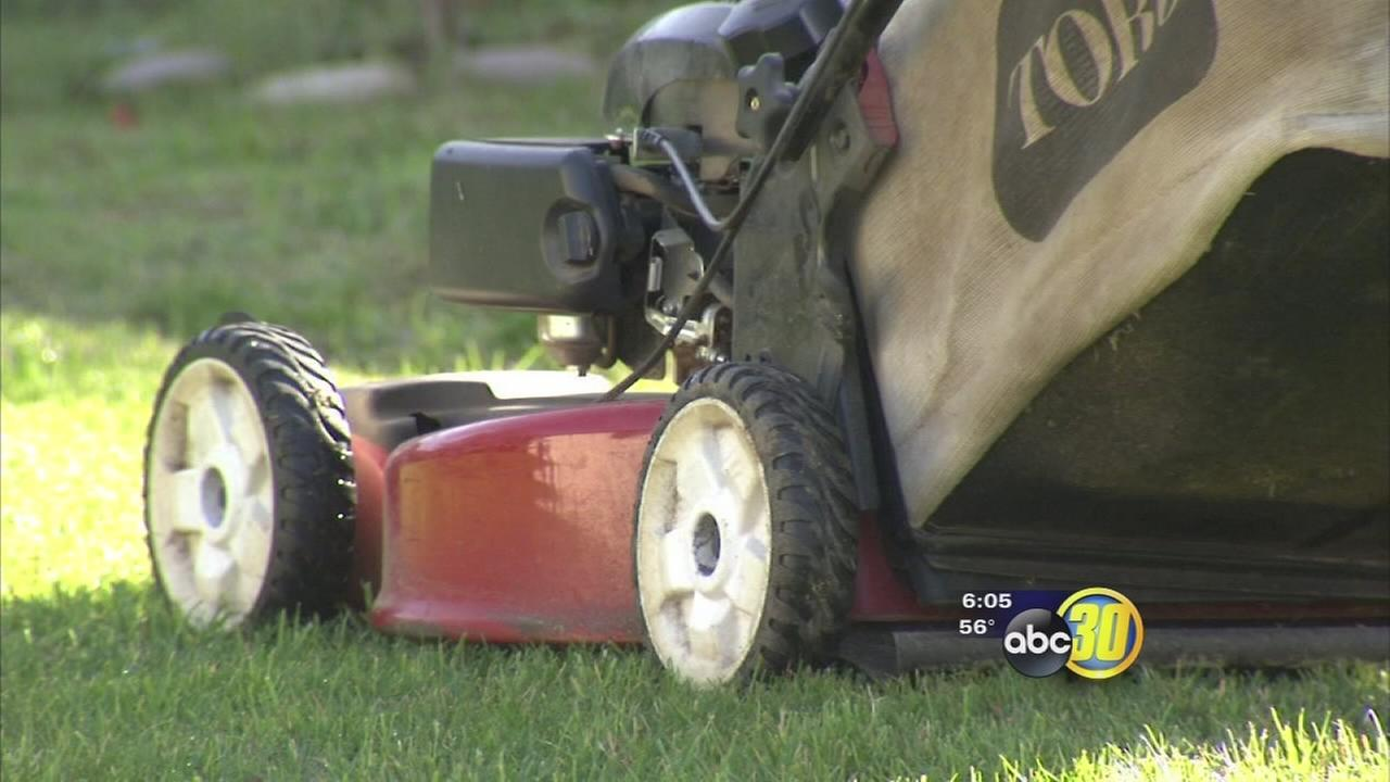 Fresno girl loses foot in lawnmower accident