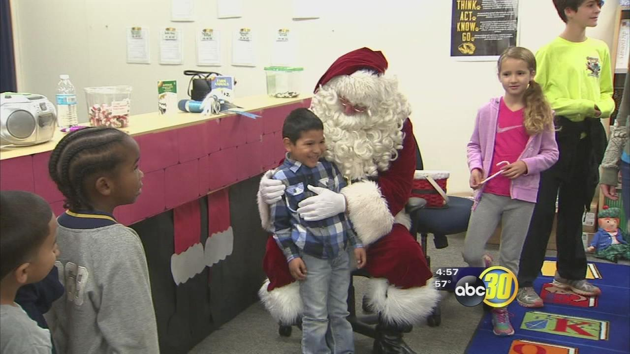 Christmas comes early for King Elementary students