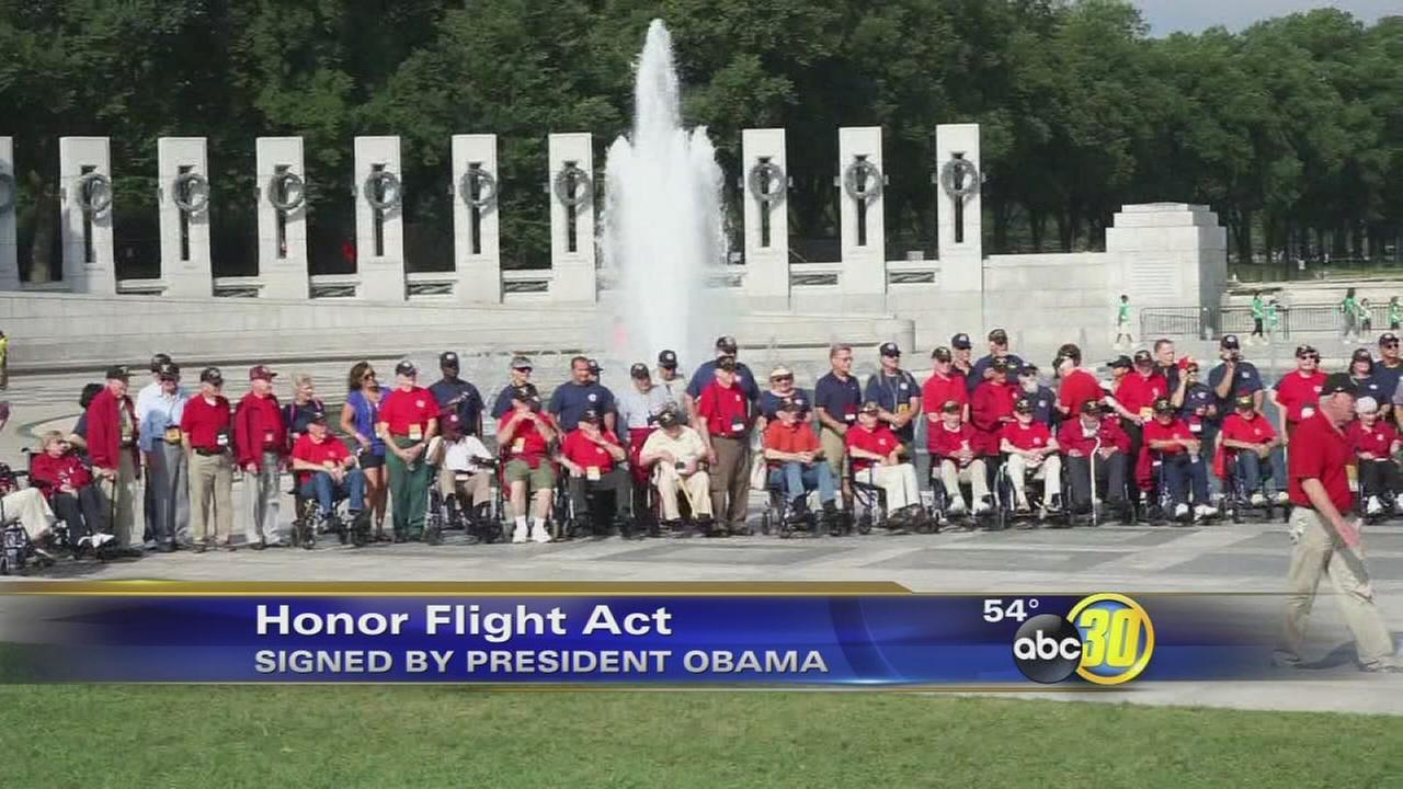 Obama signs Honor Flight Act