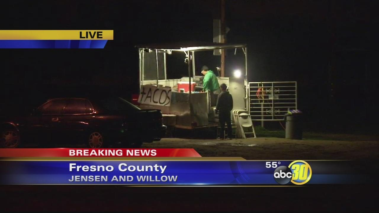 4 sought in Fresno County taco stand robbery