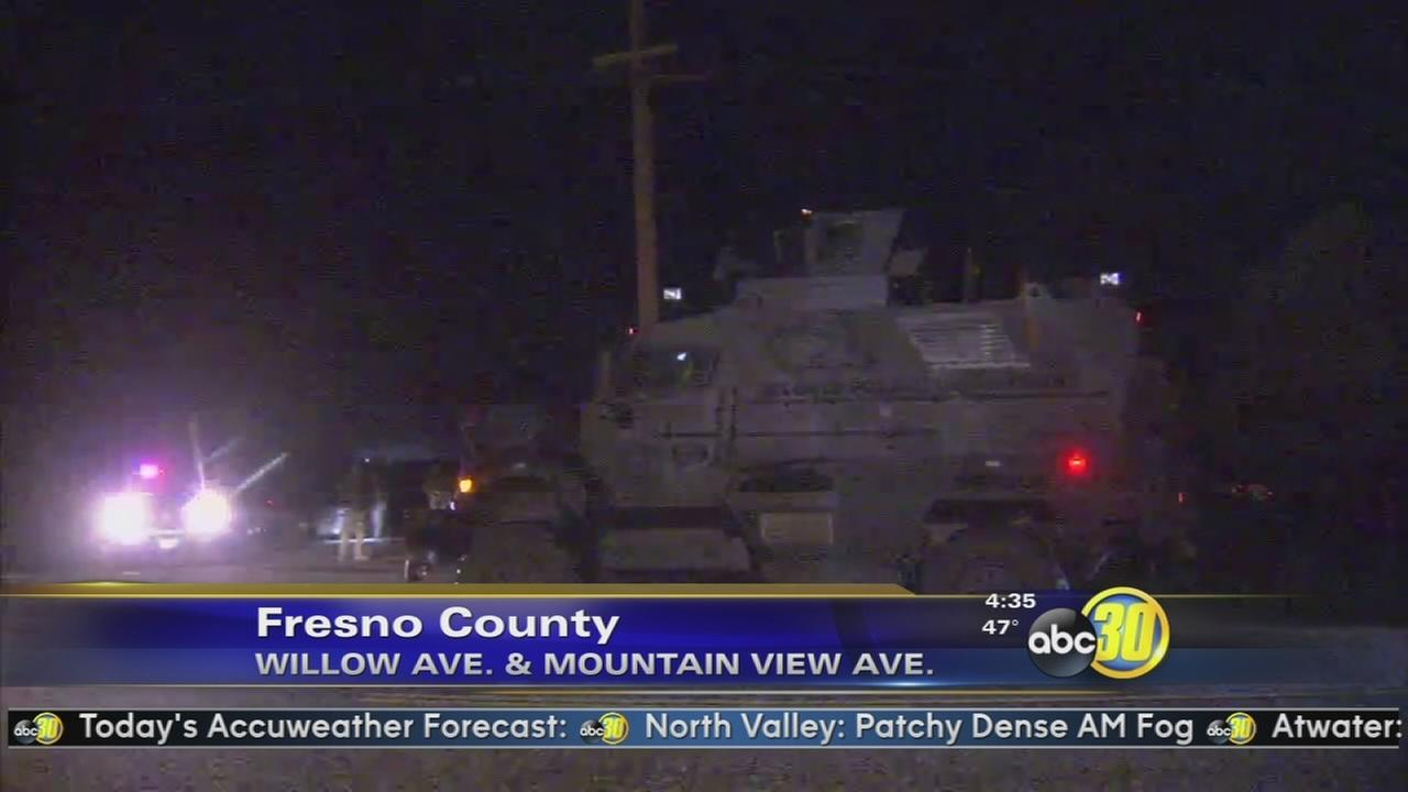 Attempted murder suspect in custody following standoff in Fresno County