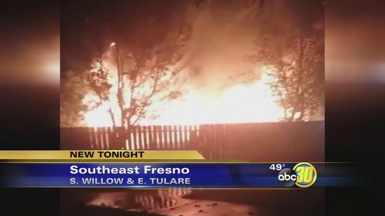 Christmas Eve fire destroys Southeast Fresno home
