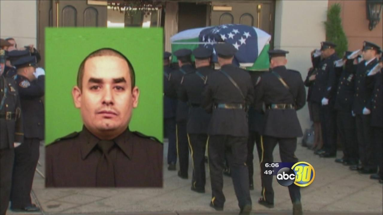 NYC officer mourned at funeral