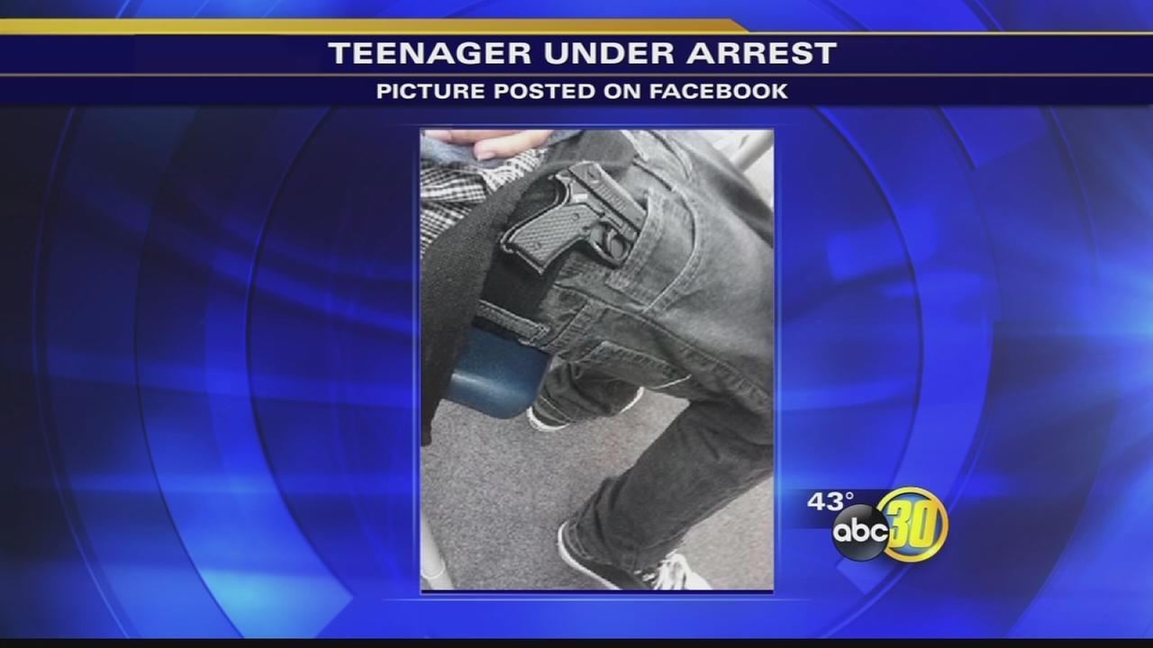 Fresno student takes gun to school, posts photo on Facebook