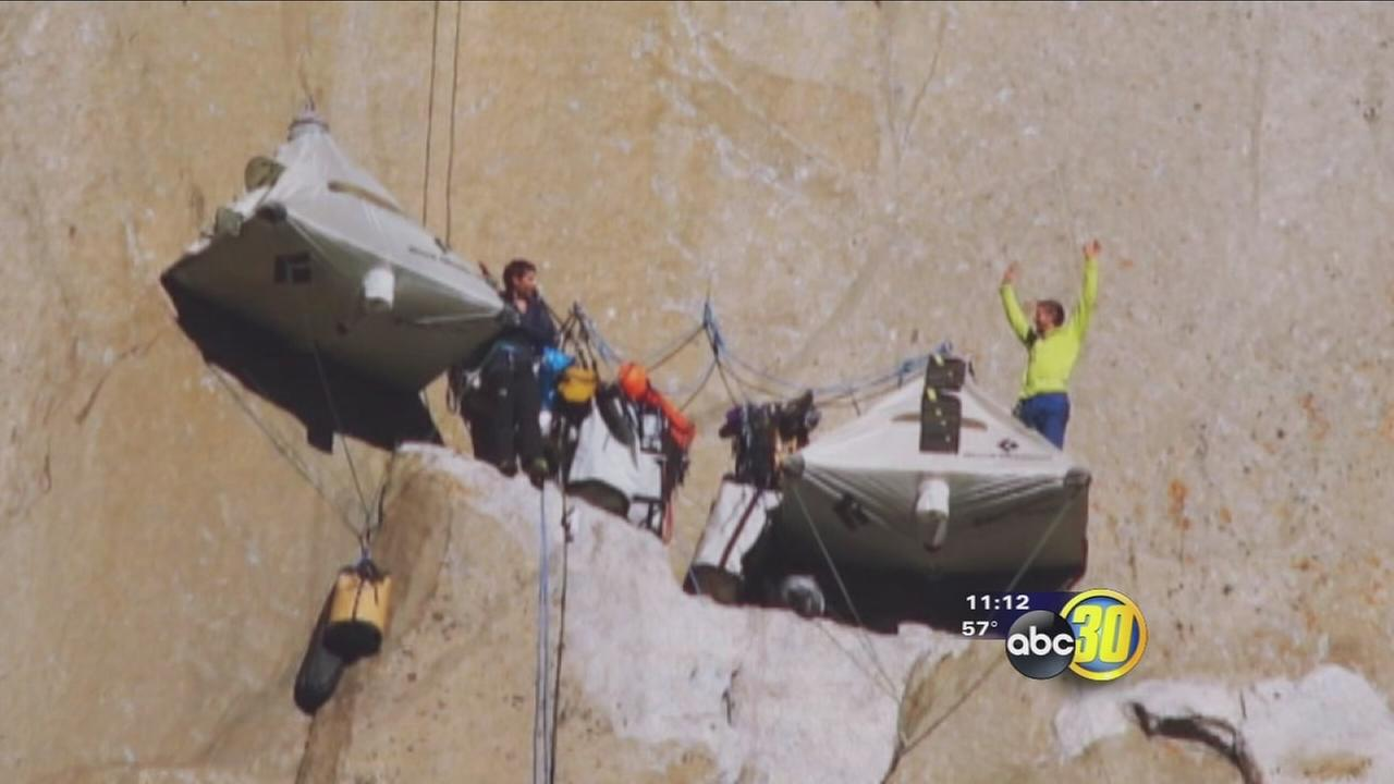 2 men attempt most difficult climb in world at Yosemite