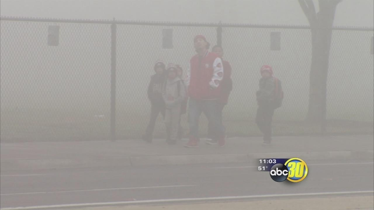Valley fog causes school and flight delays