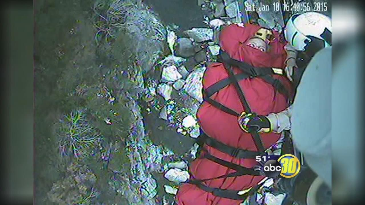 Hiker survives 30-foot fall, broken arm and cold night in Sequoia National Park
