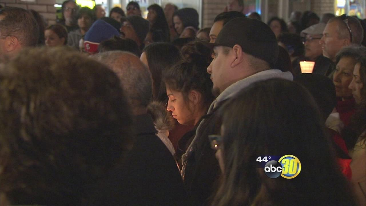 Hundreds hold vigil for Janessa Ramirez