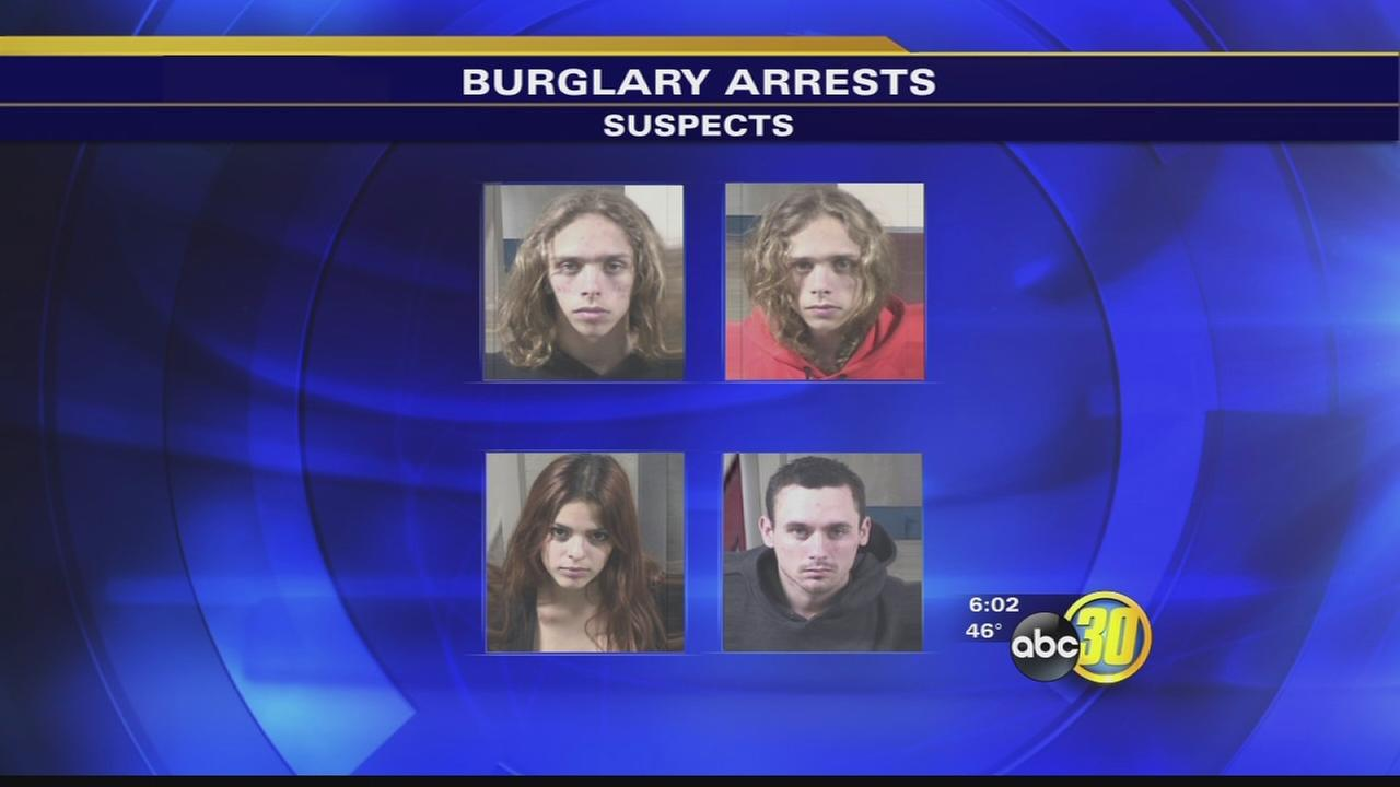 Twin brothers, woman arrested in string of Valley burglaries