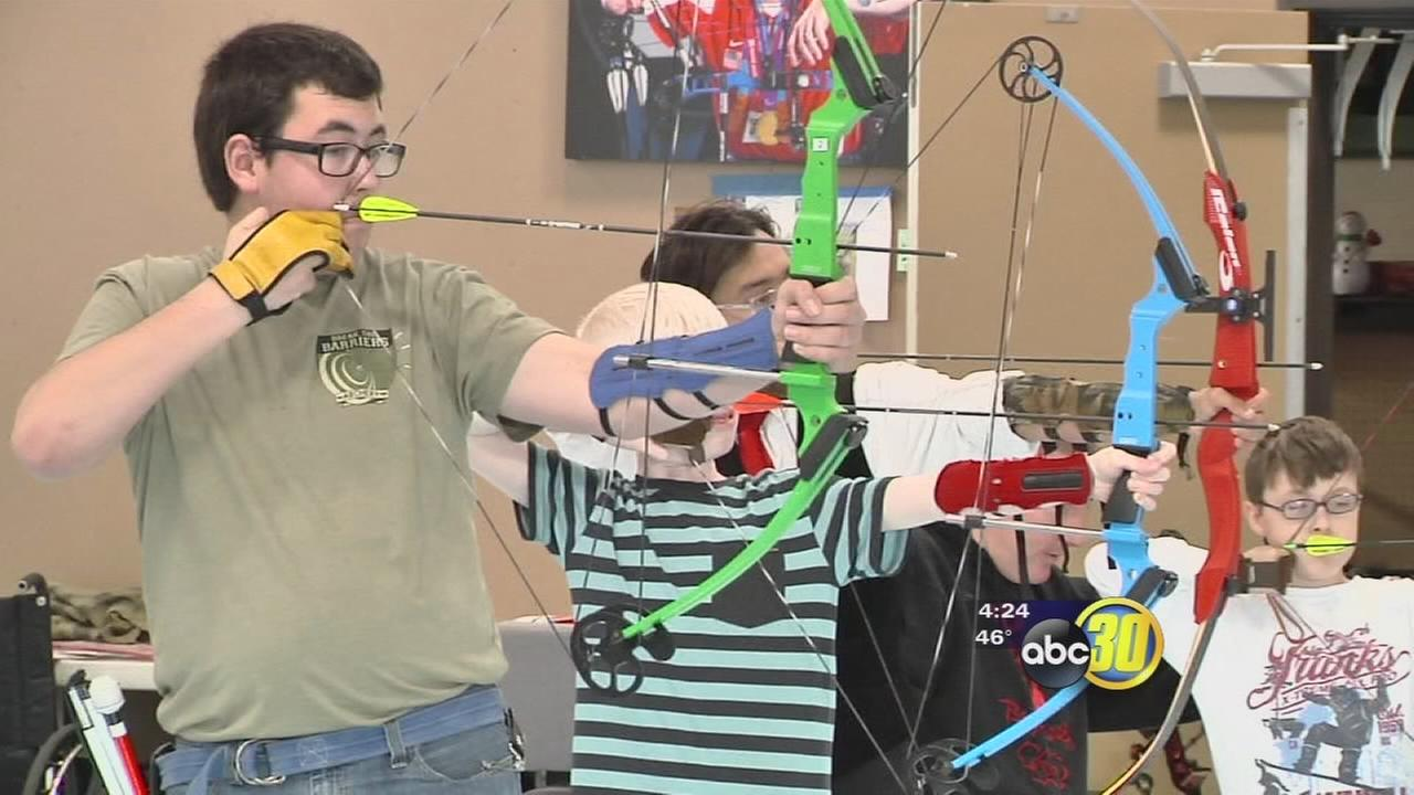 Good Sports: Visually impaired archery students