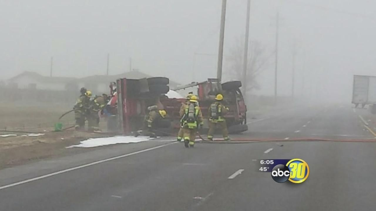 Fresno County road reopens after crash involving propane tank