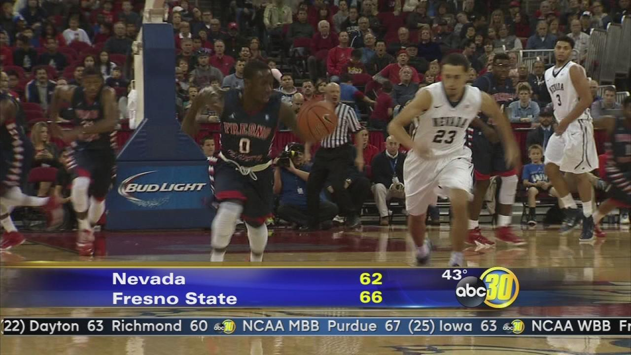 Fresno State mens basketball Dogs top Wolf Pack 66-62