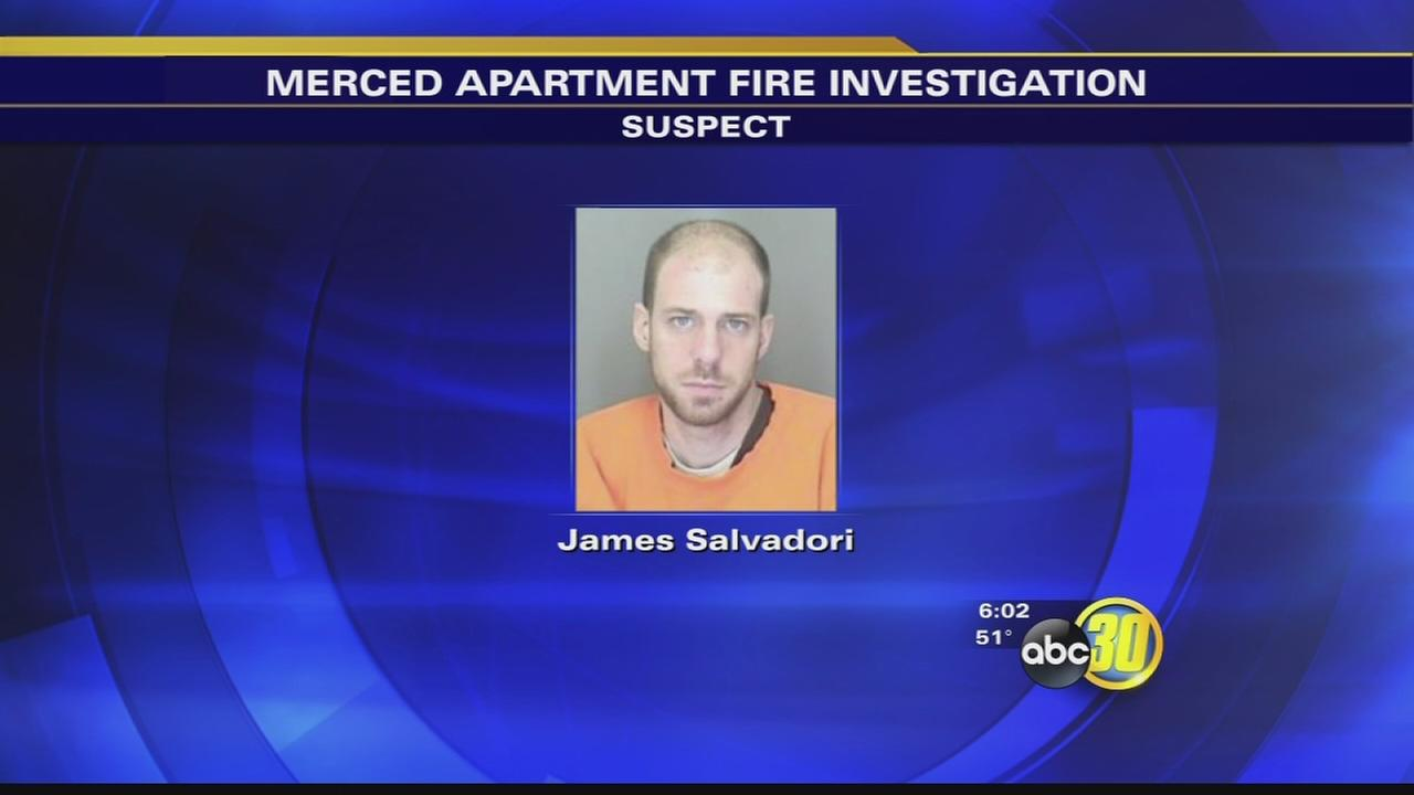 Man arrested for fire that destroyed Merced apartments