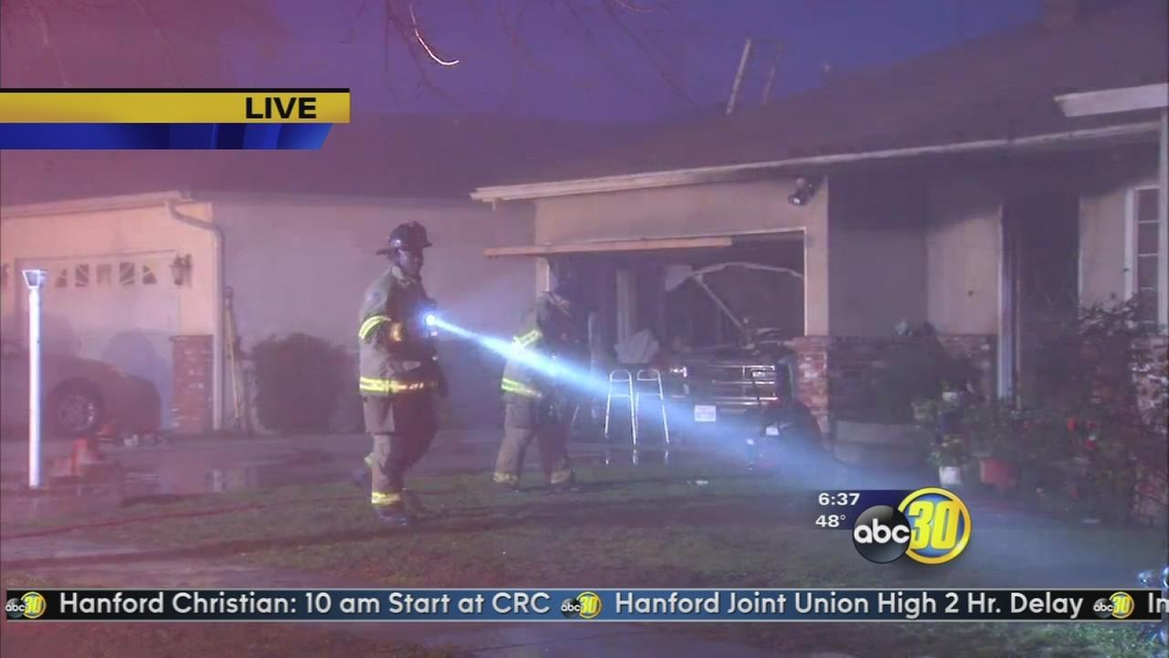 Several injured in Northeast Fresno house fire