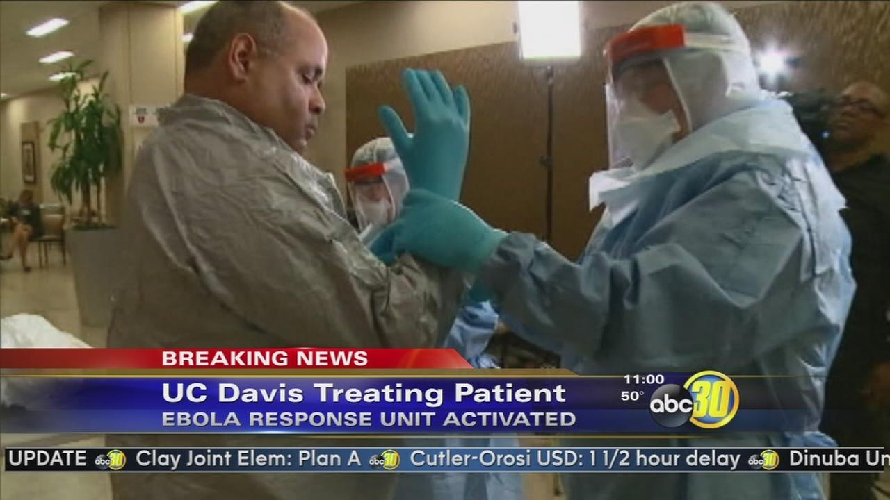 UC Davis Medical Center treating patient for possible Ebola