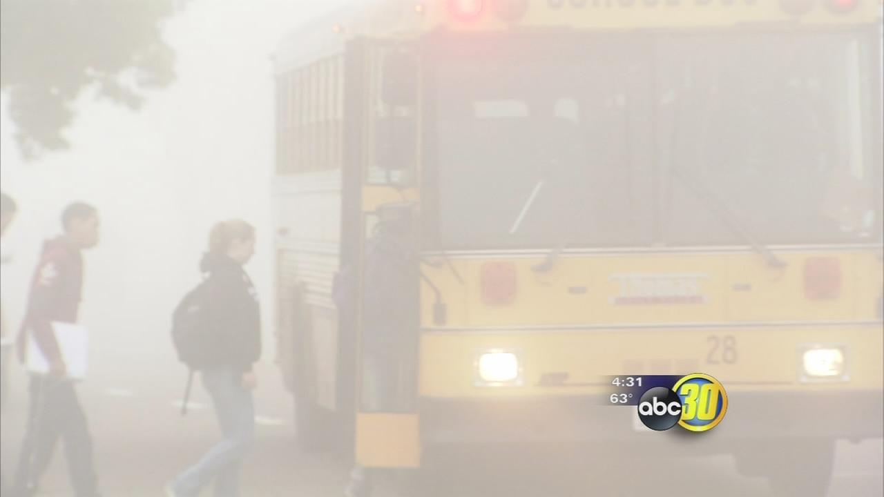 Foggy day schedules impact Valley schools