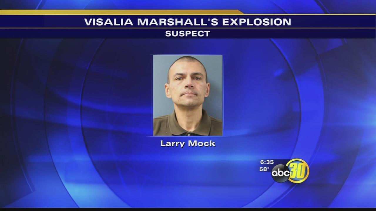 Man arrested in Visalia Marshalls explosion
