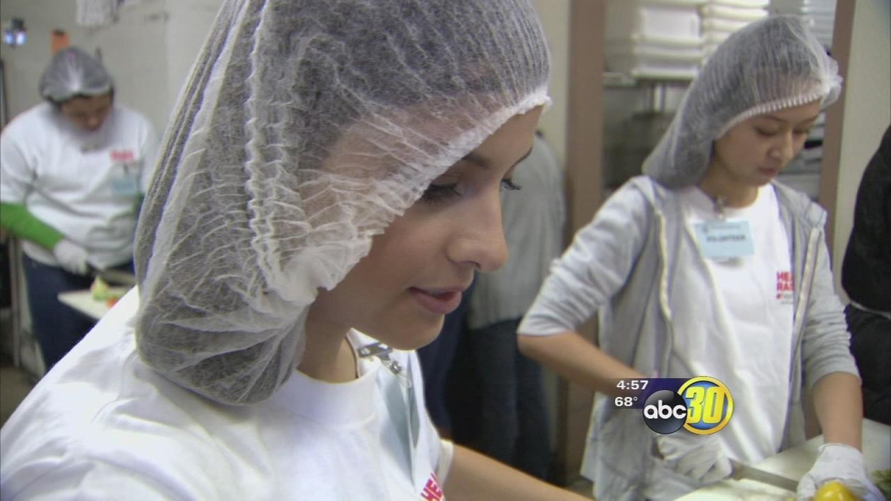 Valley students give back on their day off