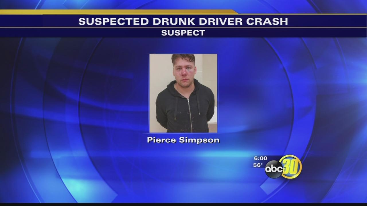 Drunk driver crashes while checking text messages, Madera police say