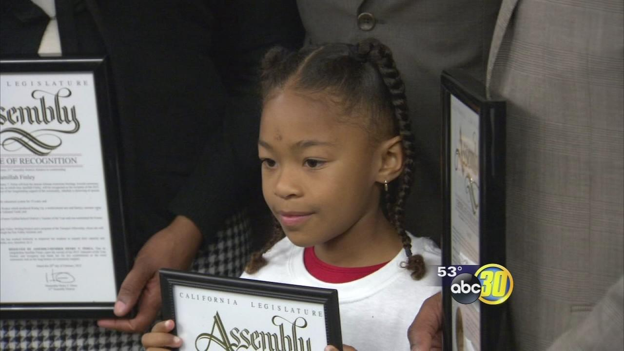 3rd grader with own business among 6 recognized in Fresno