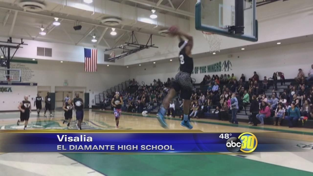 Visalia basketball game raises money for officers memorial
