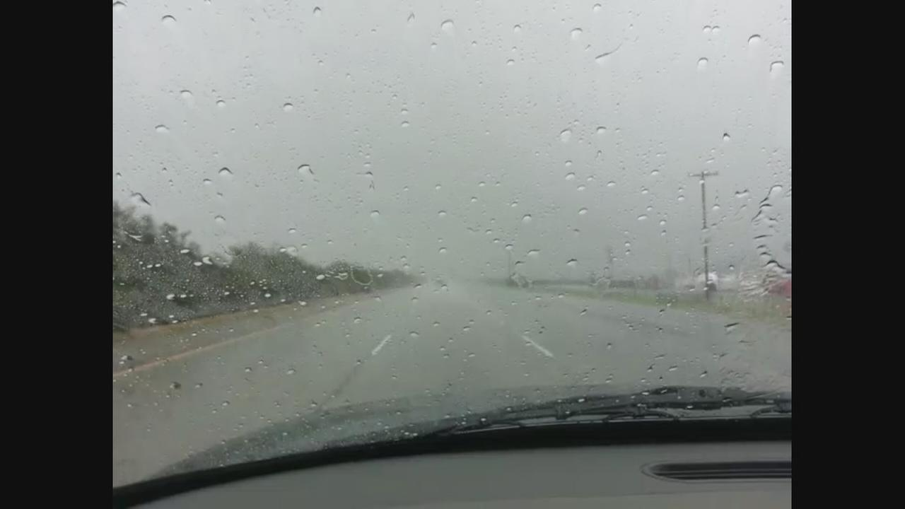 RAW VIDEO: Rain in Fowler
