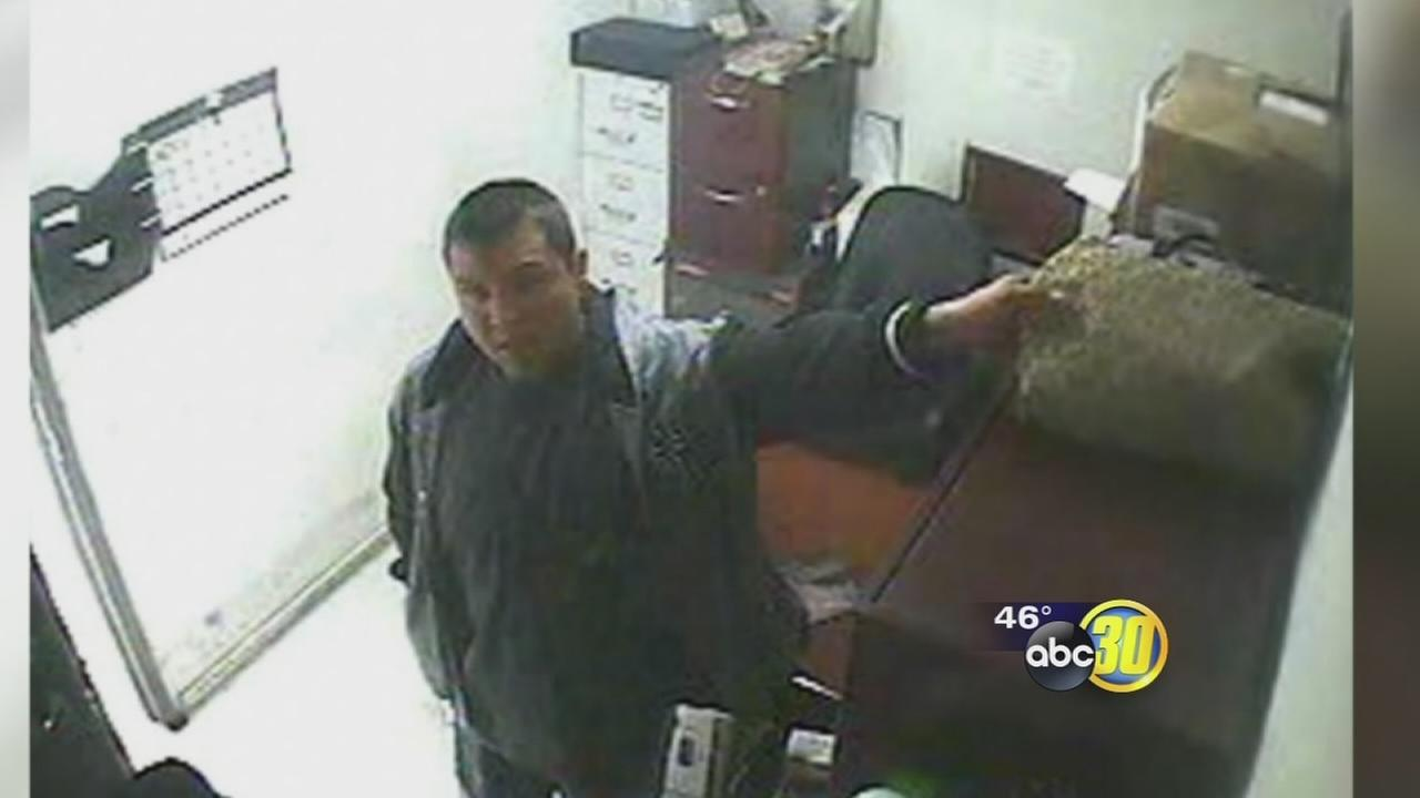 Fresno theft suspect brings young children with him