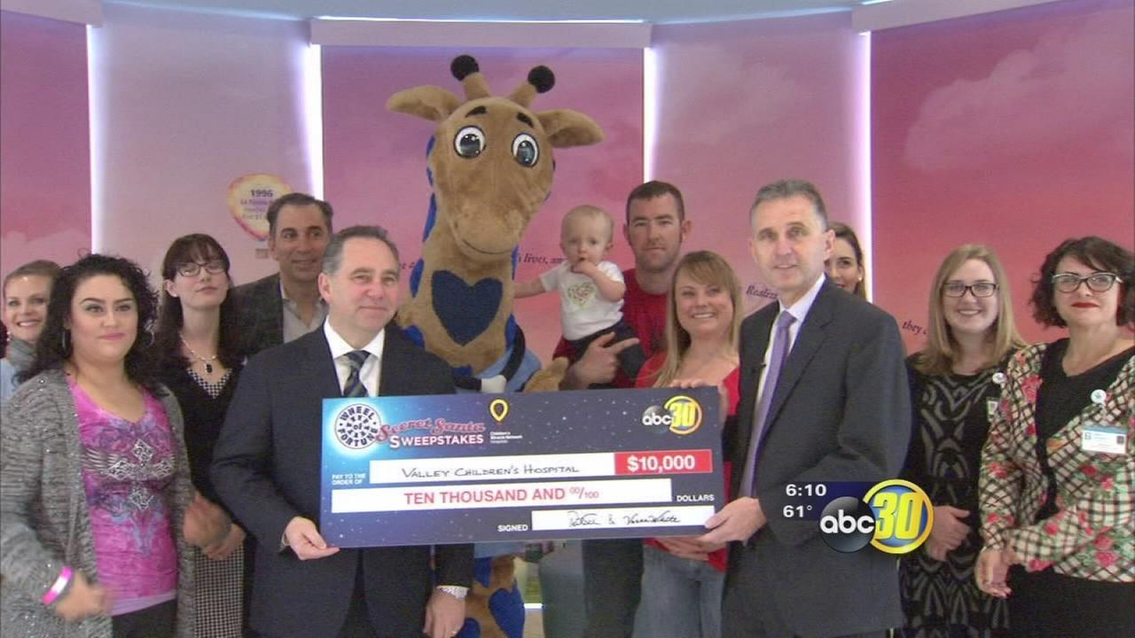 Valley Childrens Hospital receives $10K donation