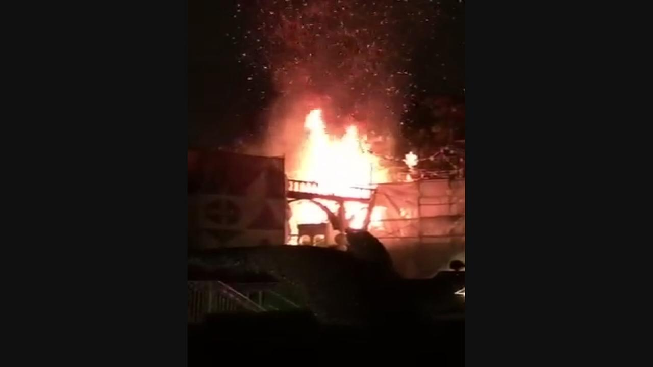 RAW VIDEO: Fire breaks out at Disneyland