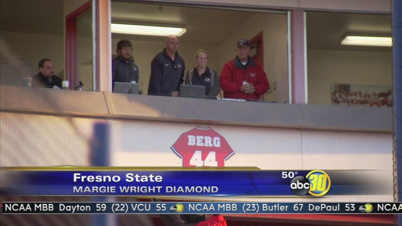 Fresno State softball program retires Laura Bergs No. 44 jersey