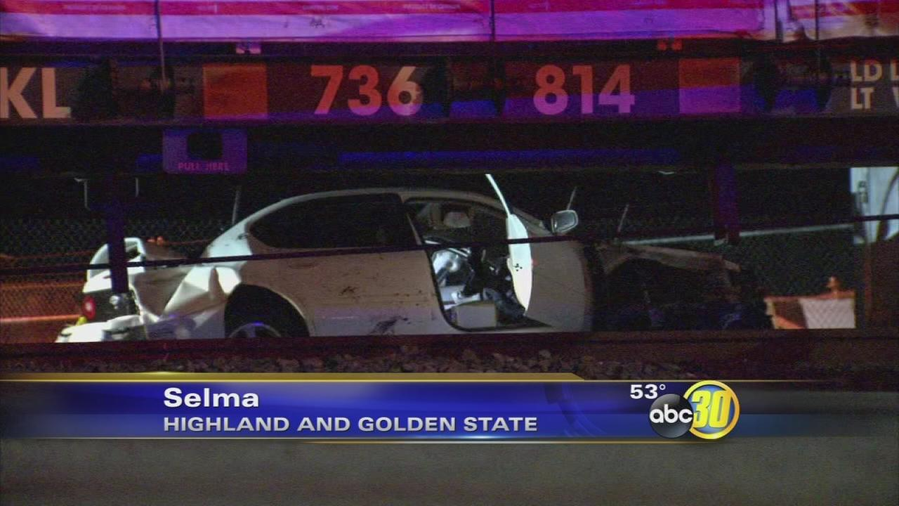 Train crashes into car with woman inside in Selma