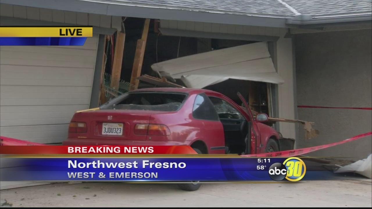 Car into house nw fresno