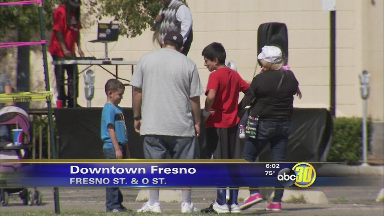 Stop the Violence event draws dozens to Downtown Fresno