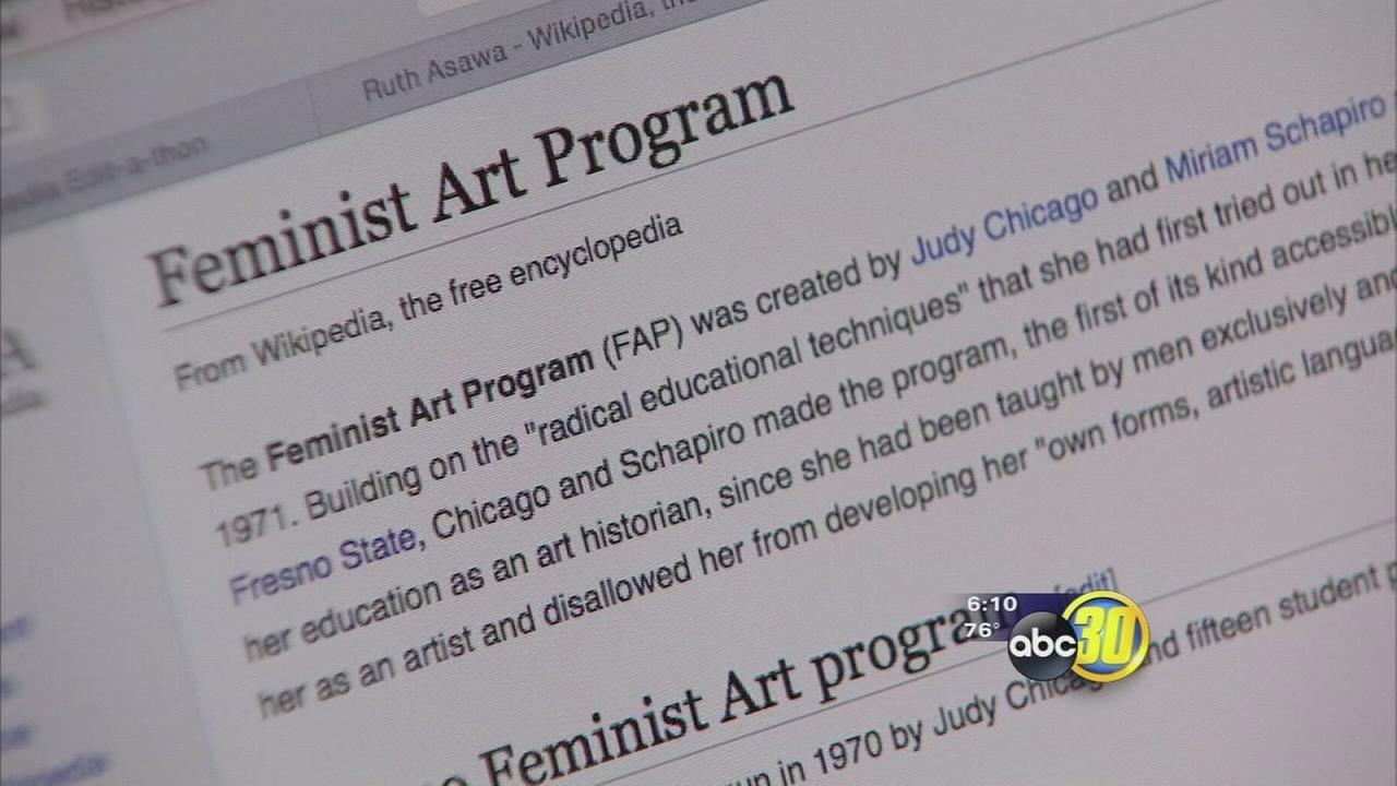 Wikipedia takes center stage at Fresno Art Museum for International Womens Day
