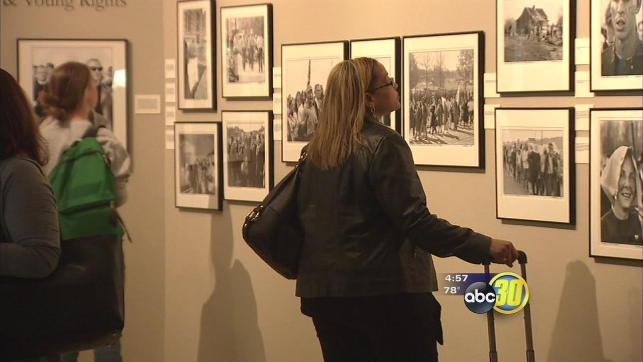 Historical civil rights photos displayed at Clovis Community College
