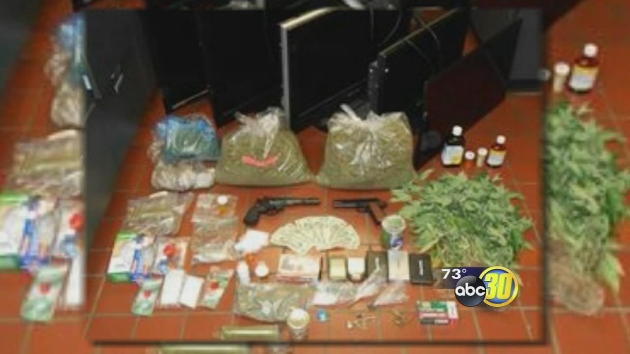 Police bust drug house near Merced school
