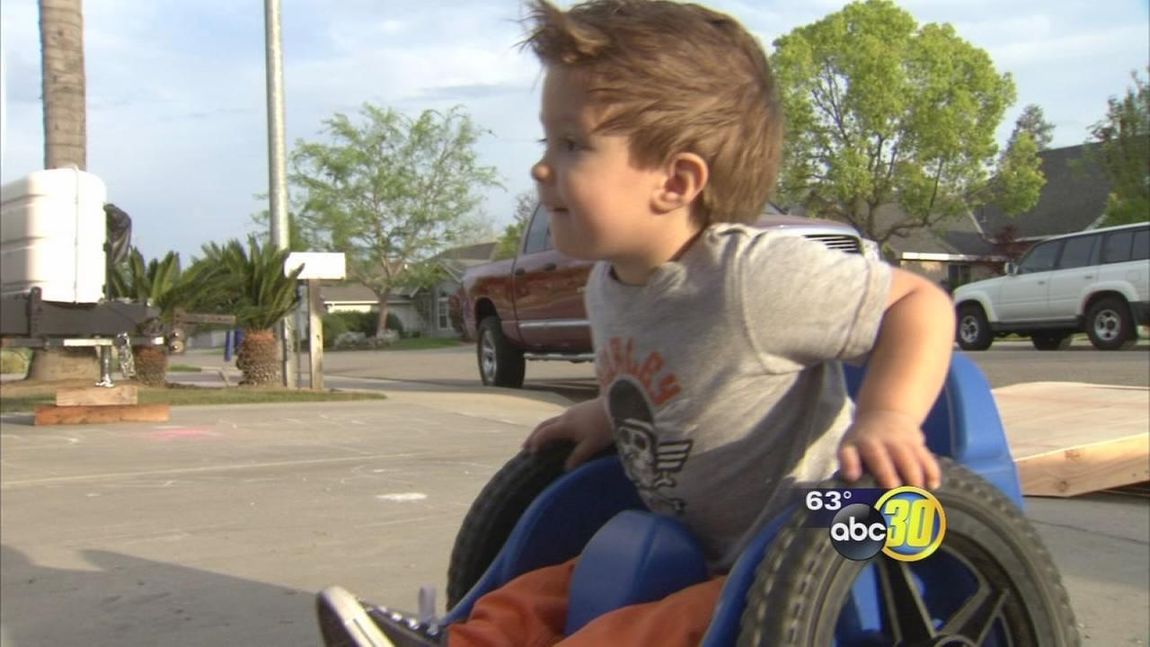 Anthem Blue Cross denies wheelchair for paralyzed two-year-old boy in Kingsburg