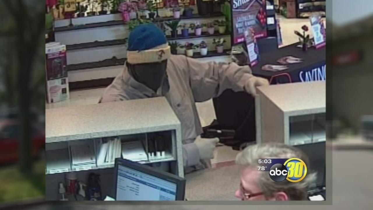 Armed robber worries shoppers and business owners in NW Fresno