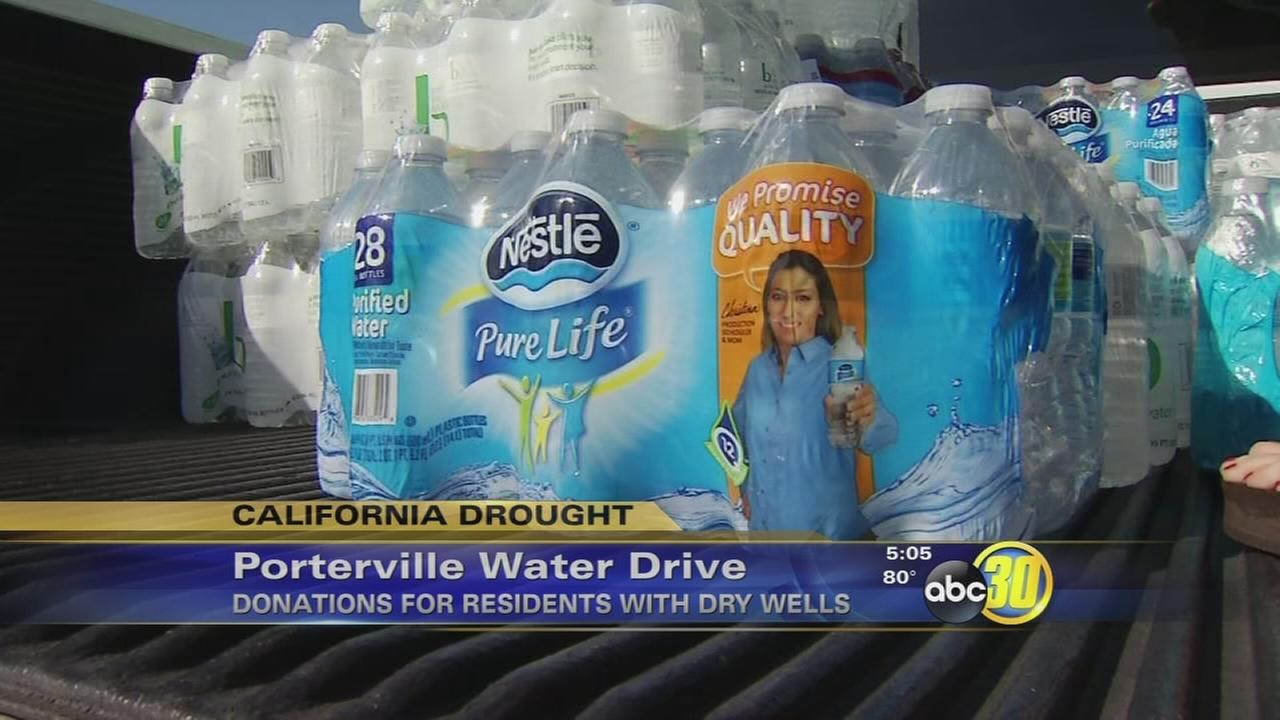 Porterville students, churches hold a water drive