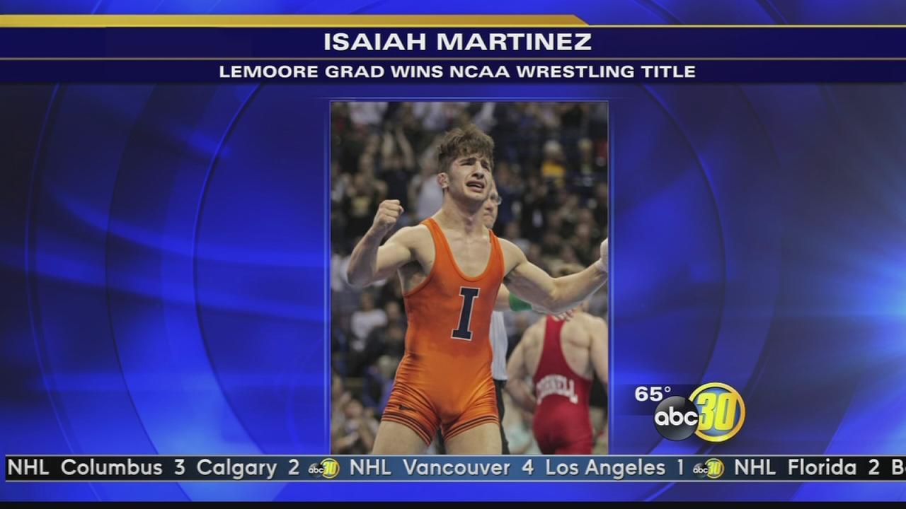 Lemoore High School grad wins NCAA wrestling title