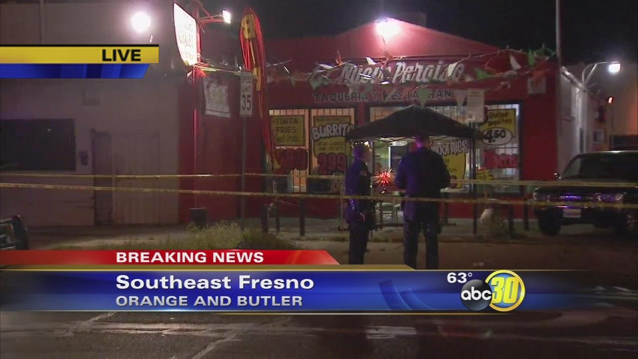 1 person shot during attempted robbery at Southeast Fresno restaurant, police say