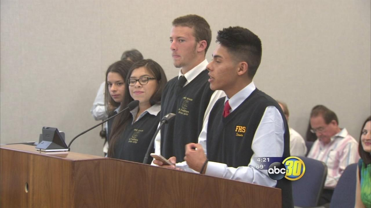 Fresno High Schools Senate Club recognized by county supervisors