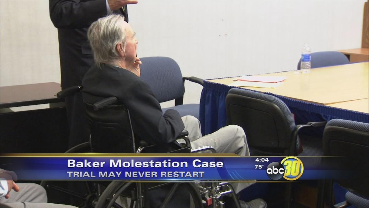 Harry Baker molestation trial may never restart