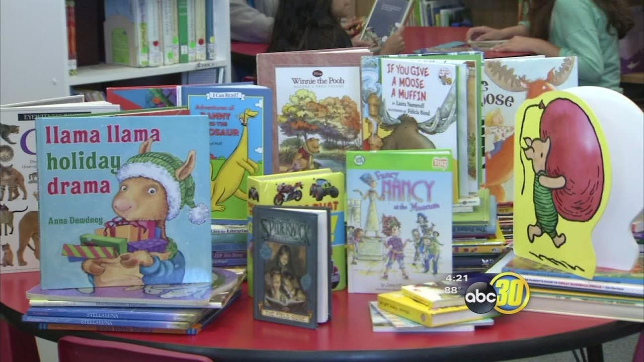 Fresno car wash collects books for elementary school