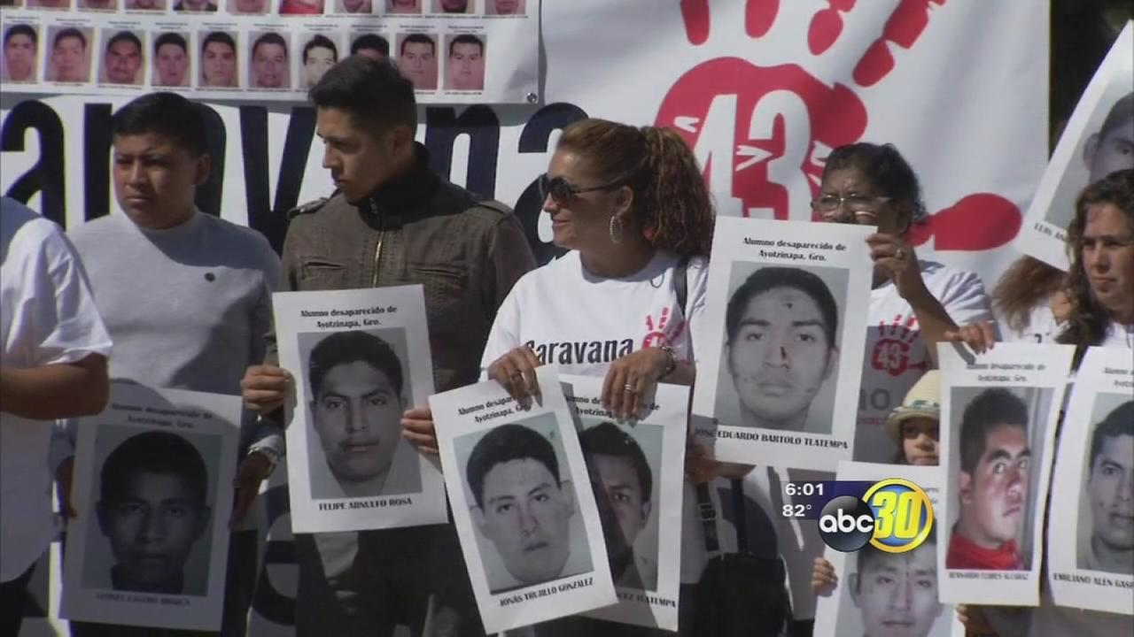 Families of 43 missing Mexican students travel to Fresno