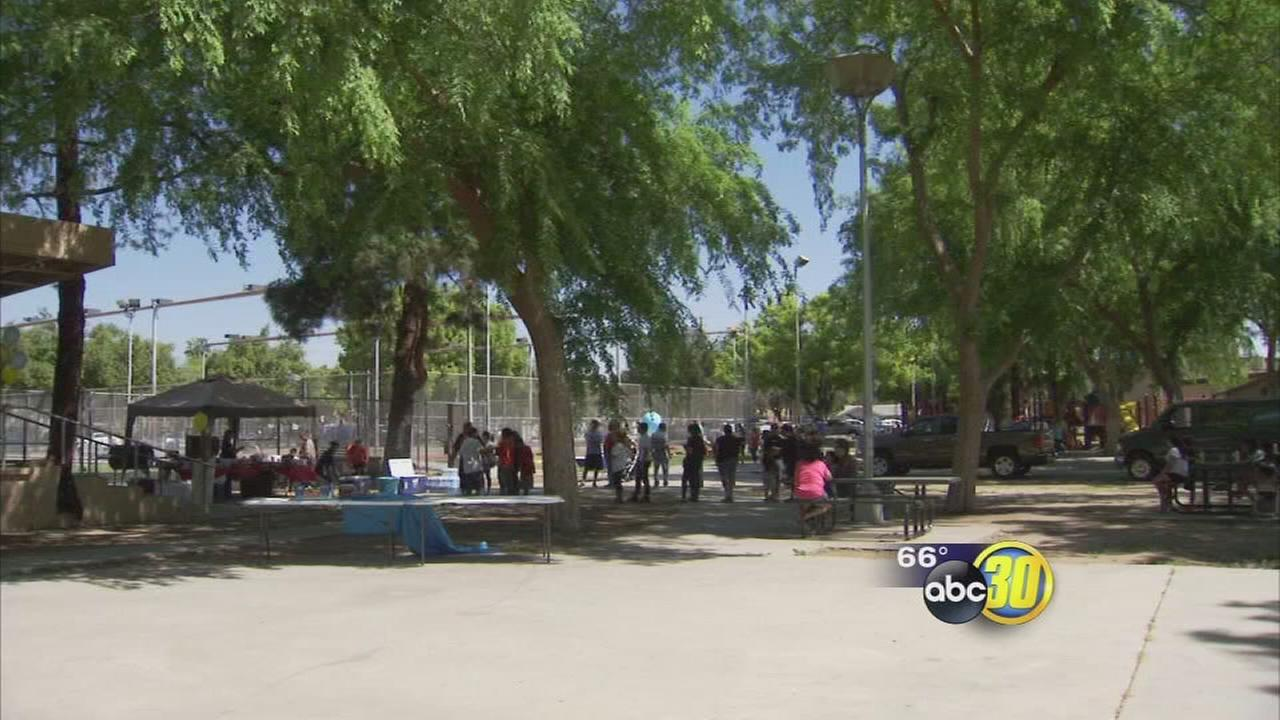 Dozens beautify Southeast Fresno park on Community Action Day