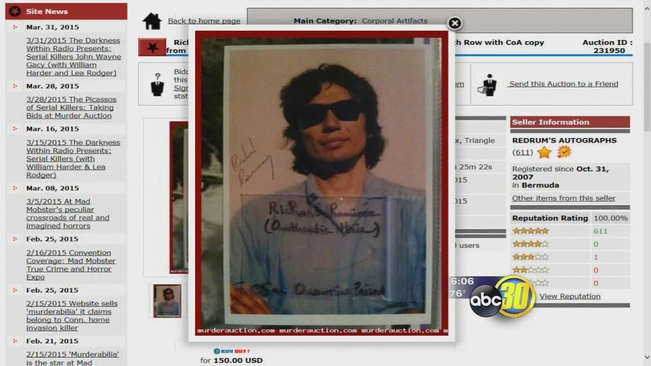 Valley man defends collection of serial killer memorabilia