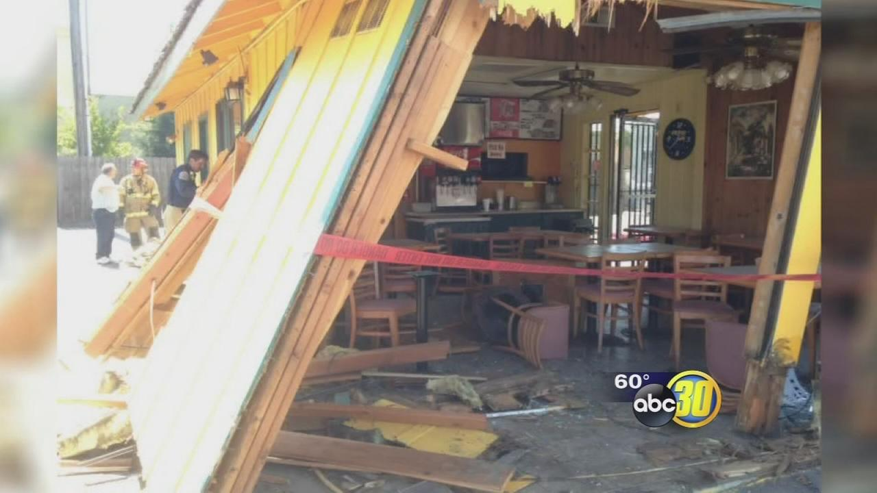 Car slams into Chiquitos Mexican Food Restaurant in Visalia