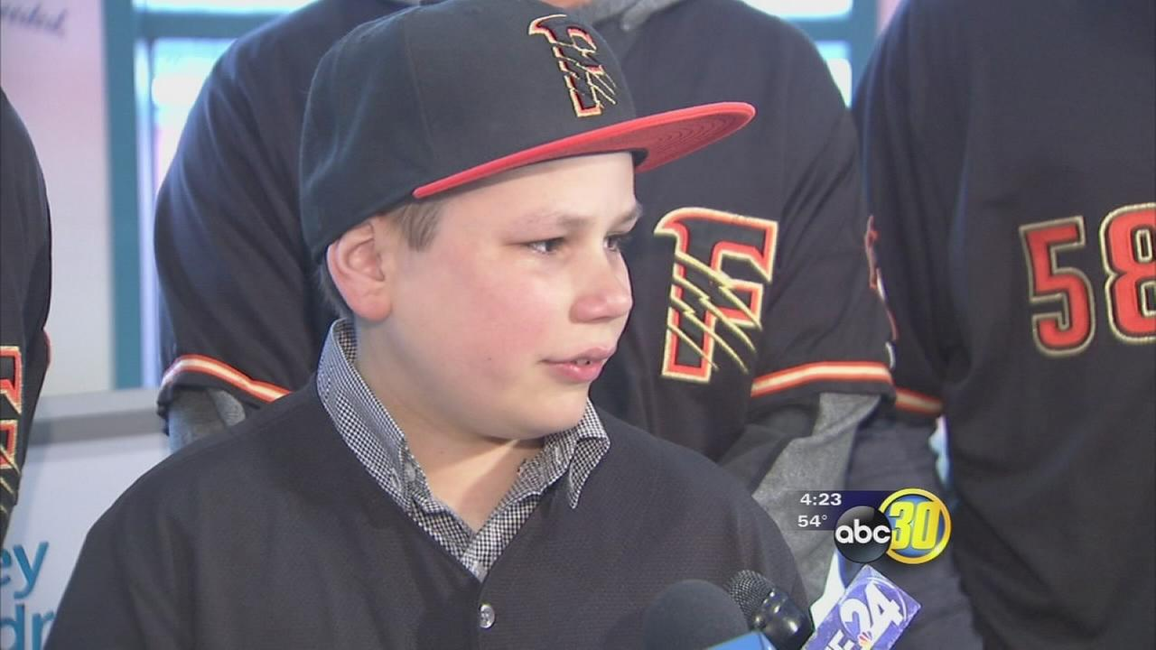 Fresno Grizzlies sign 11-year-old Valley Childrens Hospital patient